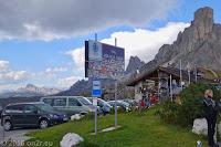 Auf dem Passo di Giau (2233m). Die Cinque Torri.