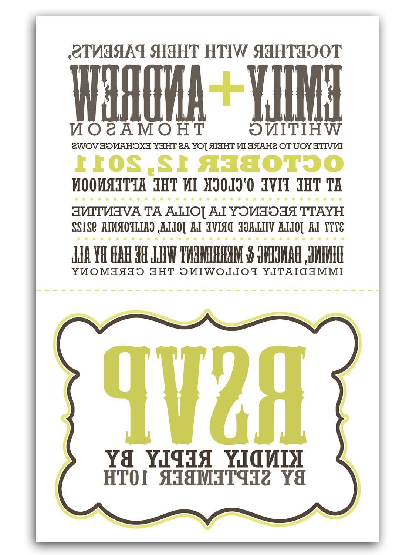 perforated wedding invitations