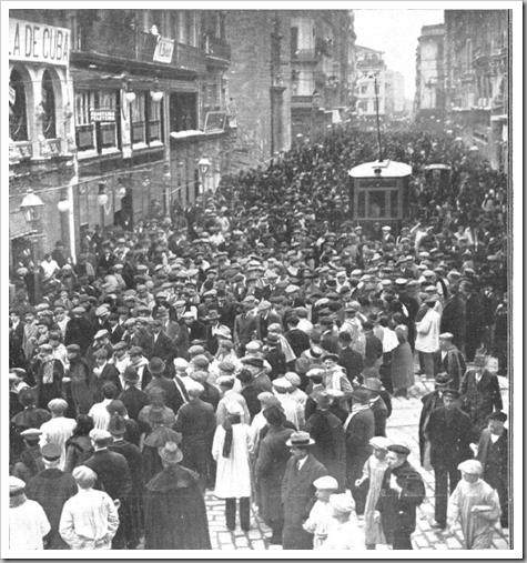 1914 jornada de huelga en la calle san vicente