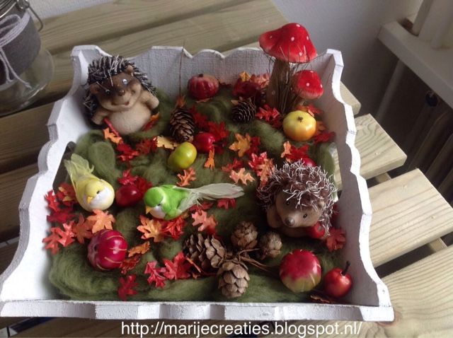 Marijecreaties herfst bakje for Decoratie herfst