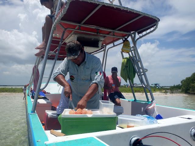 Fresh ceviche, right off the boat.