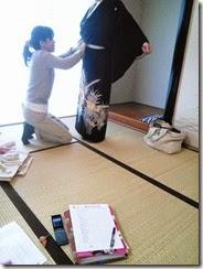 土曜日の他装着付練習でバッチリ (2)