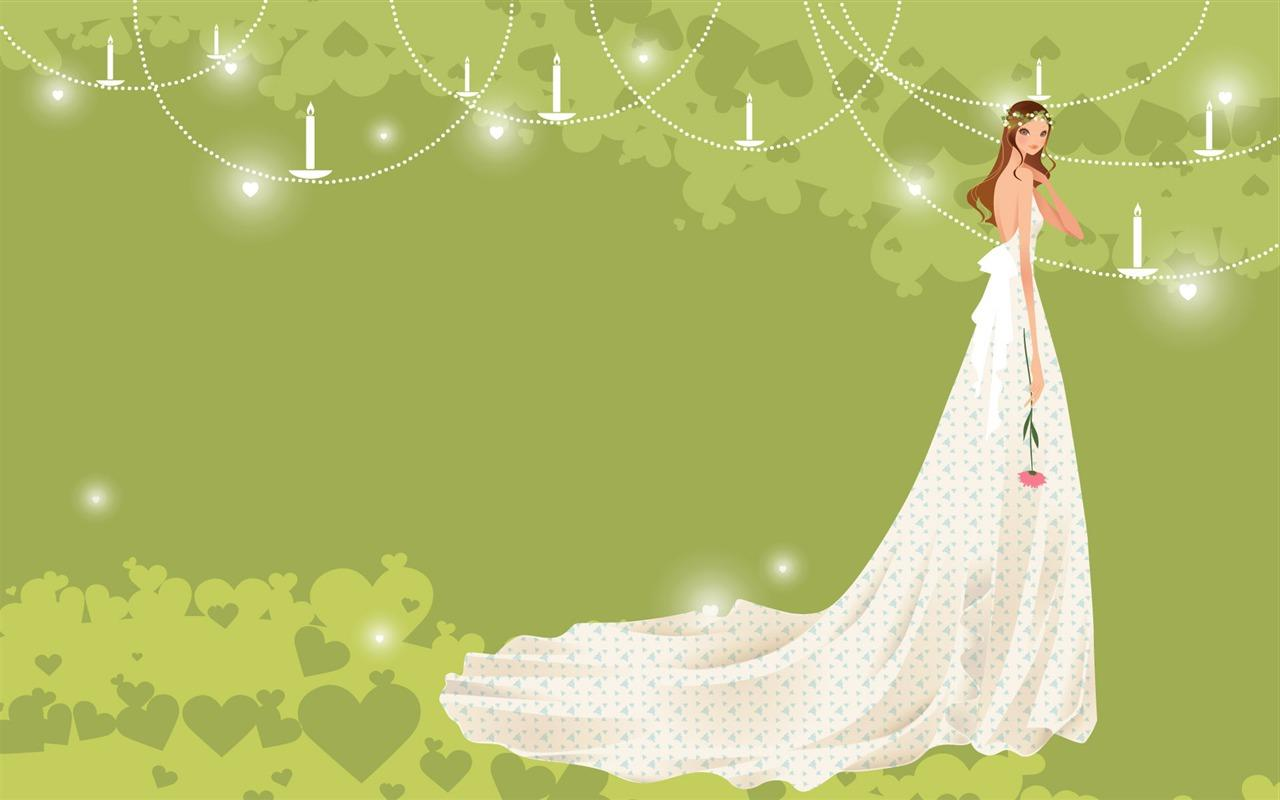 Vector wallpaper wedding bride