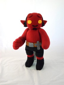 Cuddly Plush Demon Friend by Handmade Stuffs