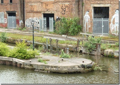 2 derelict hulme lock from towpath bridge