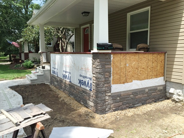Exteria Creek Ledge Stone Install
