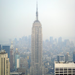 the empire state building in new york city in New York City, New York, United States