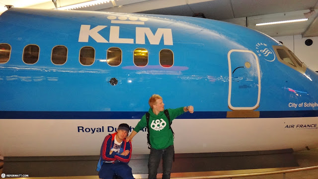 thanking KLM for the 5 hour delay in Kastrup, Copenhagen, Denmark