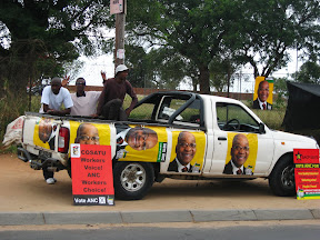 Everyone really got in the campaigning spirit - though for only one political party.