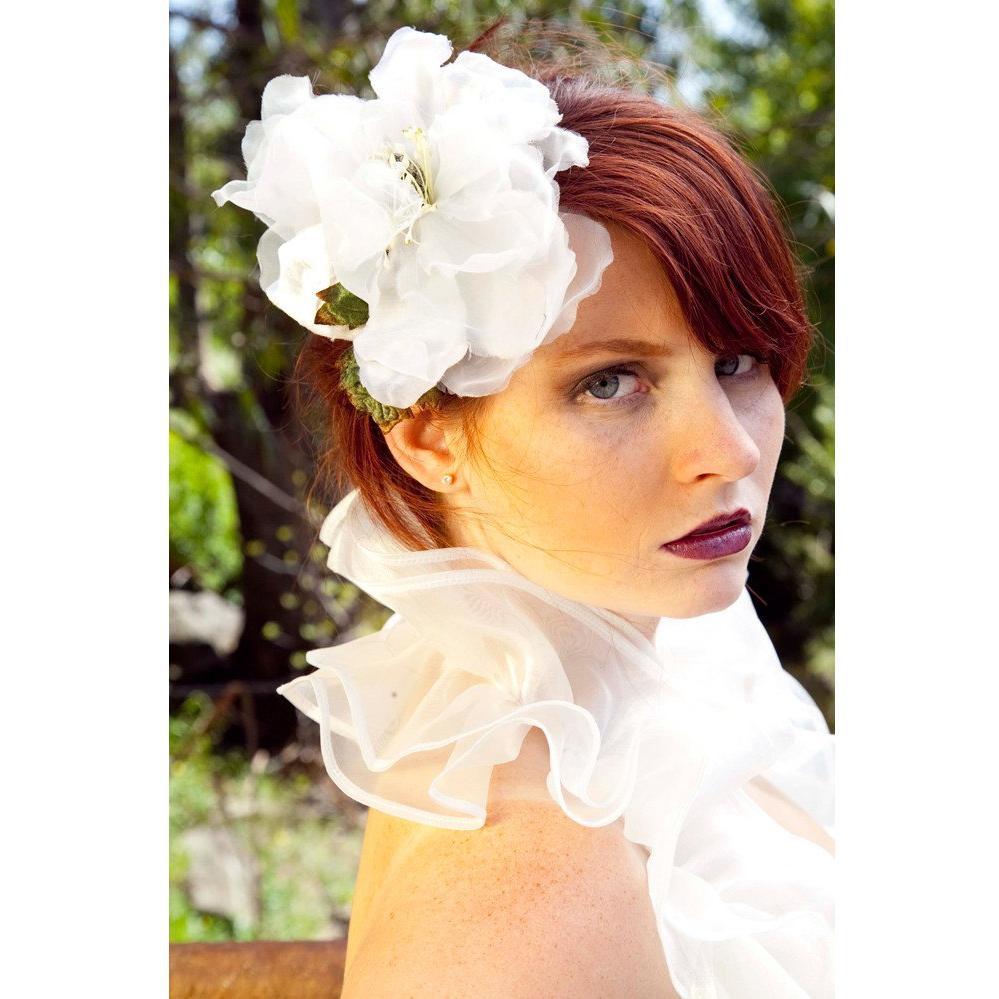 ivory hair clip wedding