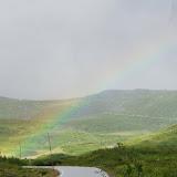 Fraaie regenboog langs de Trollstigen (voorbij Geiranger).