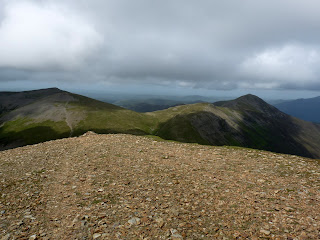 Eel Crag Summit with Hopegill Head Sand Hill and Grisedale Pike.