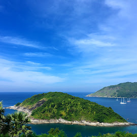 Island off the coast by Thibavel Selvarajoo - Instagram & Mobile iPhone ( thailand, tourism, phuket, coast, island )