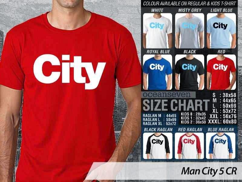 KAOS Man City Manchester City 5 Liga Premier Inggris distro ocean seven
