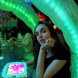 Pamela Tercjak at the Kawaii Monster Cafe in Harajuku in Harajuku, Tokyo, Japan