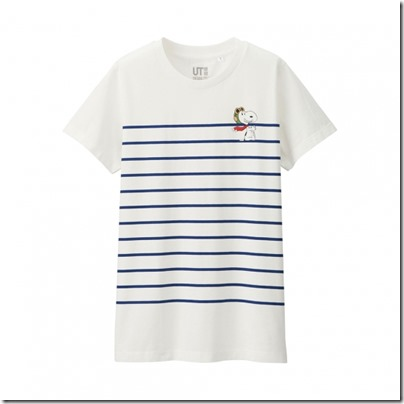 UNIQLO UT X Peanuts Movie Women Short Sleeve Graphic T-Shirt 09