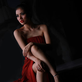 RED DRESS by Jamil Yusuf - People Fashion ( fashion photography,  )