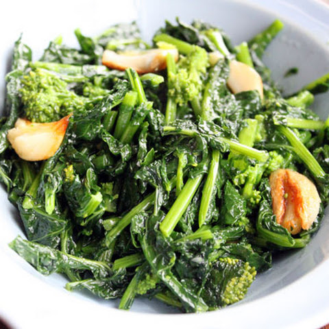 Rapini with Sauteed Garlic