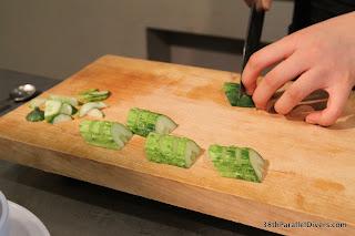 Start of cucumber kimchi