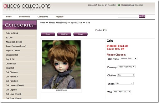 Mystic Kids Cris at Alice's Collections