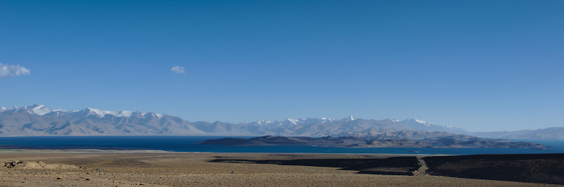 The 4000 meter high Karakol lake has been formed by a meteor 10 million years ago. The village bearing the same name is the last settlement for 150 kilometers.