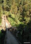 Pierwszego dnia mieliśmy do pokonania 3 mosty wiszące nad przepaścią.