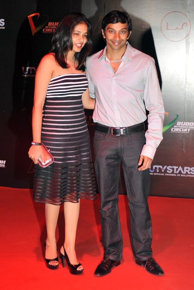 Нараин Картикеян с женой на афтерпати Гран-при Индии 2011
