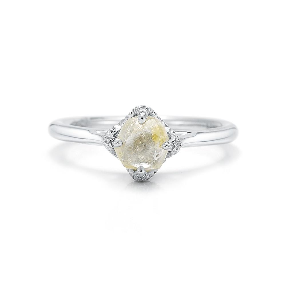Signature Rough Diamond Engagement Ring 3D128-1.56 - Signature - Bridal