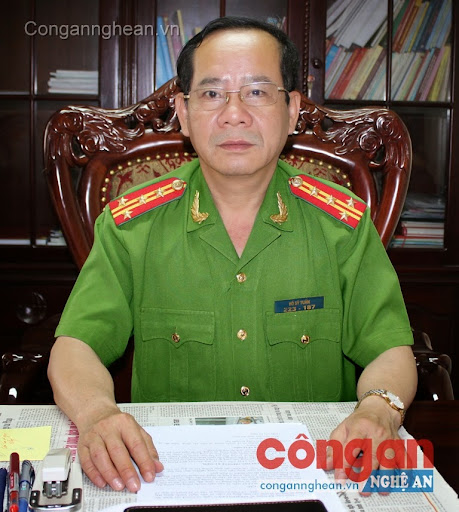 Đại tá Hồ Sỹ Tuấn, Giám đốc Cảnh sát PC&CC tỉnh Nghệ An