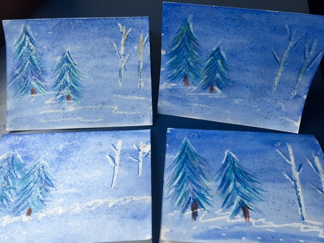 Kids Art: Winter Holiday Card