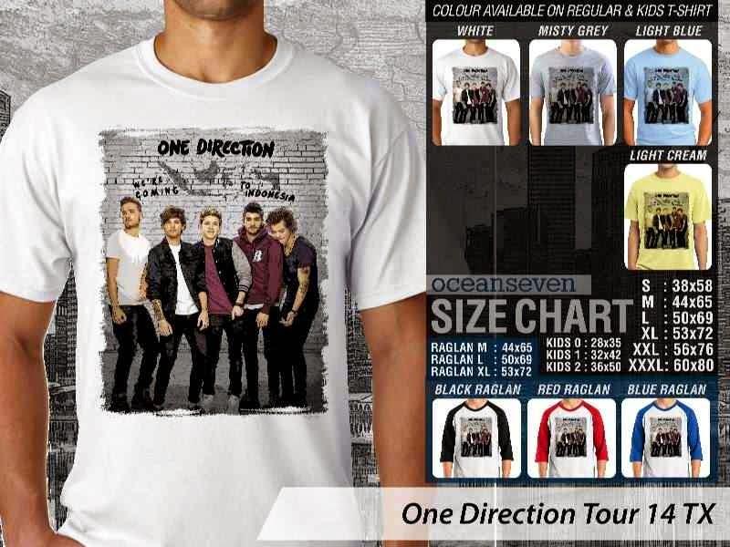Jual kaos 1D One Direction Tour 14