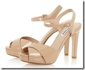 Dune Marleen nude patent sandal (gold also)