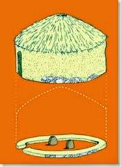 Illeta dels Banyets - reconstrucción de la cabaña neolítica