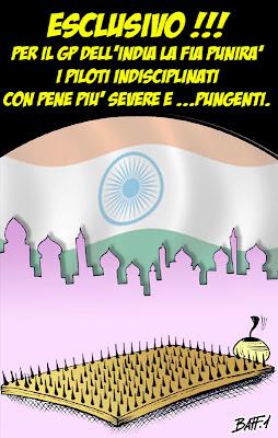 комикс Baffi о наказании FIA на Гран-при Индии 2011