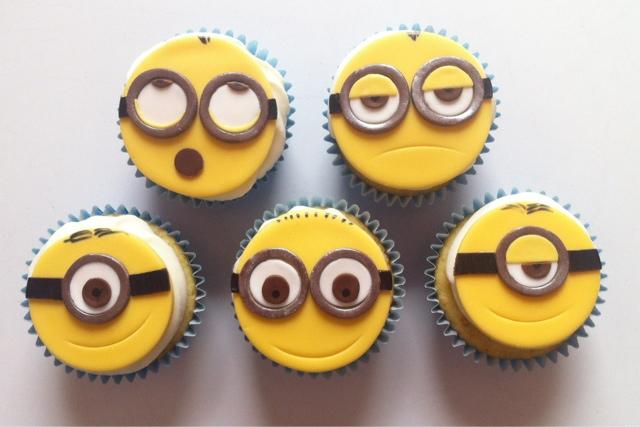 Cupcakes con topper Minions