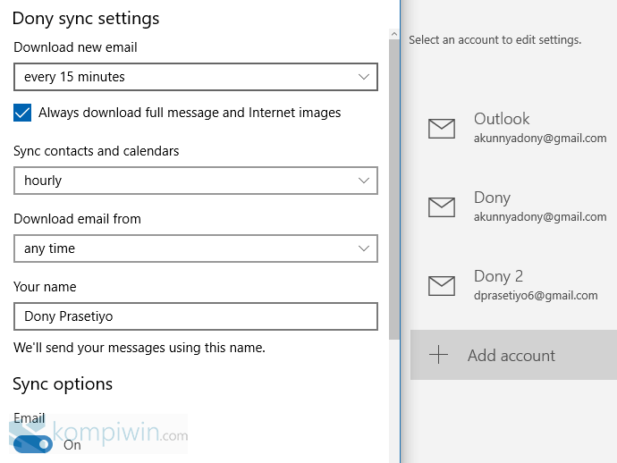 sync setting mail app windows 10 (1)