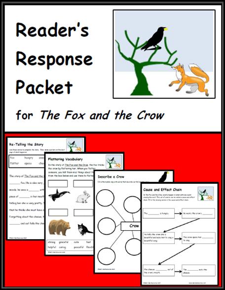 the fox and the crow reader's response packet