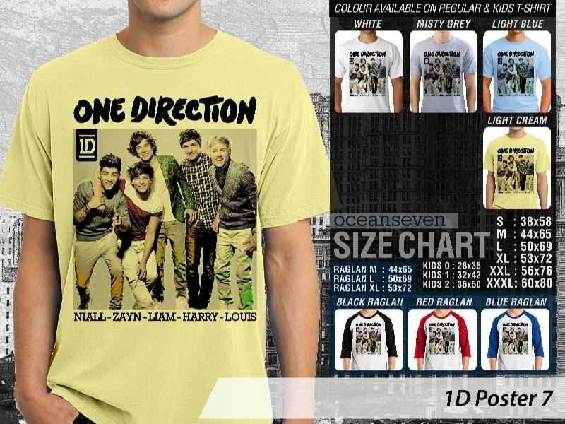 Jual kaos 1D One Direction 7 Musik Boy Band