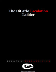 Cover of Vin Dicarlo's Book The Dicarlo Escalation Ladder