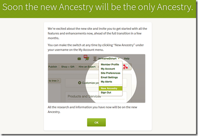 Soon the new Ancestry will be the only Ancestry.