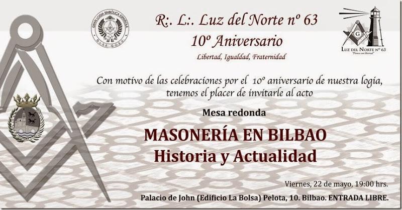 Invitación Masonica Bilbao