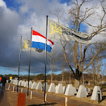 dutch flags Dutch National Military Museum Soesterberg in Soest, Utrecht, Netherlands