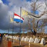 dutch flags Dutch National Military Museum Soesterberg in Soest, Utrecht, Netherlands