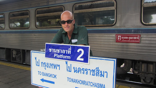 Waiting for our train to Ayutthaya.