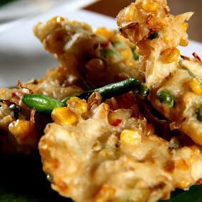 Bakwan Jagung by Krisna Pillay - Food & Drink Plated Food