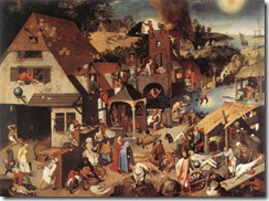 Proverbios flamencos-Brueghel el Viejo