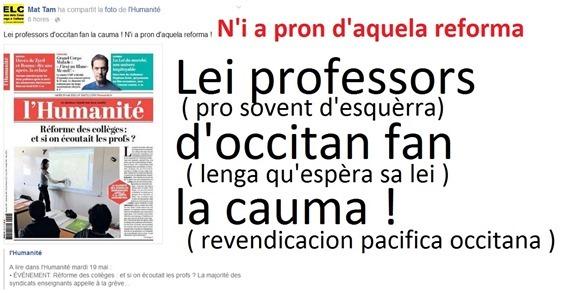 cauma dels professors d'occitan 19052015