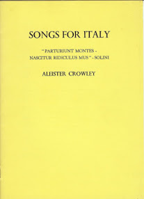 Cover of Aleister Crowley's Book Songs For Italy