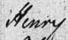 Snippet of name indexed as Henry