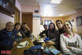 En el refugio de Casa de Piedra. Foto cortesía de Juan Fabro. © aunpasodelacima